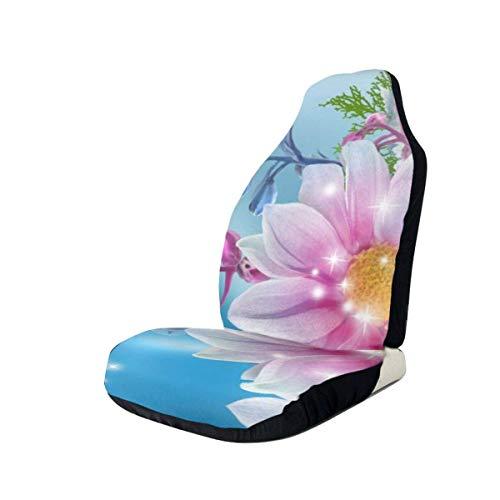 YAGEAD Autositzbezüge Ausgefallene Schmetterlingsblüten Gedruckte Autositzbezüge Die Vordersitze passen für die meisten Autos, LKWs, SUVs oder Lieferwagen