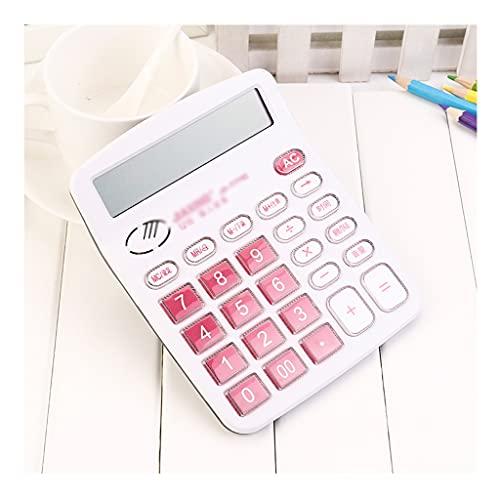 Calculadoras Básicas Calculadora Tipo De Voz Calculadoras Pronunciación De La Moda Pequeña Calculadora Business Crystal Button Calculator Calculadoras (Color : White)