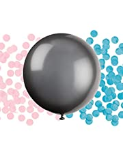 (Gender Reveal Balloon with Pink and Blue Confetti (Baby Shower Party