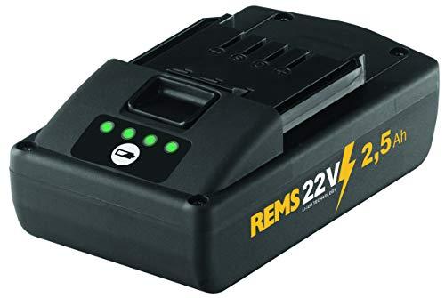 REMS Akku Li-Ion 21,6 Volt - 2,5 Ah Kapazität für lange Laufzeit, passend für REMS Mini-Press, Radialpresse, Leistungsstark und leicht, kein Memoryeffekt, hochbelastbar