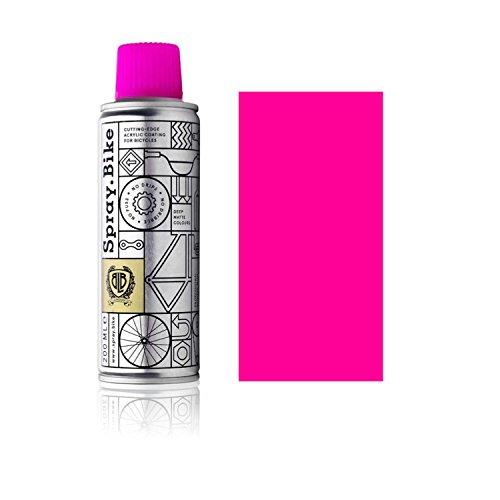 SPRAY.BIKE Fahrrad Lackspray - für detailreiche Arbeiten wie Linien, Schablonen oder kleine Bereiche - Pocket SOLID Kollektion in der praktischen 200ml Dose (Neon Pink)