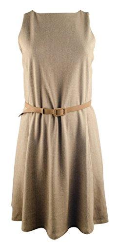 LAUREN RALPH LAUREN Damen Übergröße ärmellose Passform und ausgestelltes Kleid - Braun - 1X