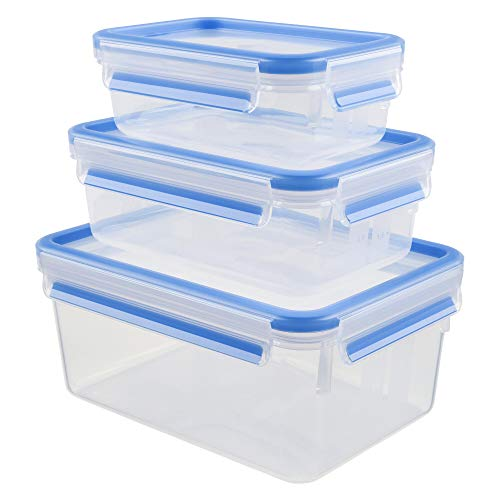 Tefal K30289 recipiente de almacenar comida Caja Rectangular Transparente 3 pieza(s) - Recipiente para alimentos (Caja, Rectangular, Transparente, De plástico, 167 mm, 226 mm)