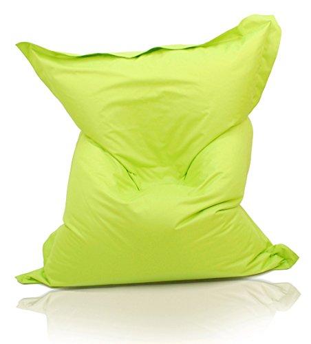 Kinzler S-10026/27 XXL Riesensitzsack, 140x180 cm, Sitzsack Outdoor Indoor, in vielen verschiedenen Farben, mit Innensack, apfel grün