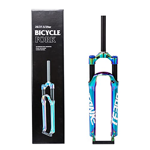 MEILINL Bicicleta MTB Horquilla Suspensión 27.5/29 Pulgadas, Tubo Recto 1-1/8' Amortiguador Montaña Horquillas Aire Viaje 120mm Puede Desmontar y Montar rápidamente