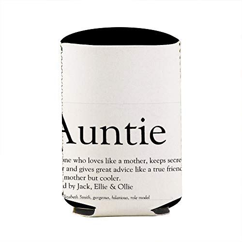 Worlds Best Ever Aunt Auntie DefinitionCan Beverage Coolers Sleeve,Insulated Skinny Neoprene Beer Cans Cooler Sleeve Bags