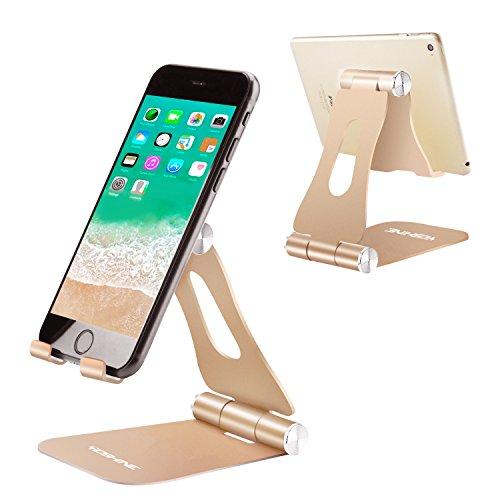 Yoshine Verstellbarer Handy-Ständer, Universal-Ständer für Handy X 8, 7, 6, 6S Plus, 5, 5S, 4, 4S, Nintendo Switch, Huawei, Samsung S3, S4, S5, S6, S7, S8 und andere Smartphones - Golden