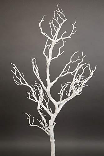 Seidenblumen Roß Großer Dekoast/Dekozweig 80cm weiß YF künstlicher AST Zweig Kunstast Kunststoff