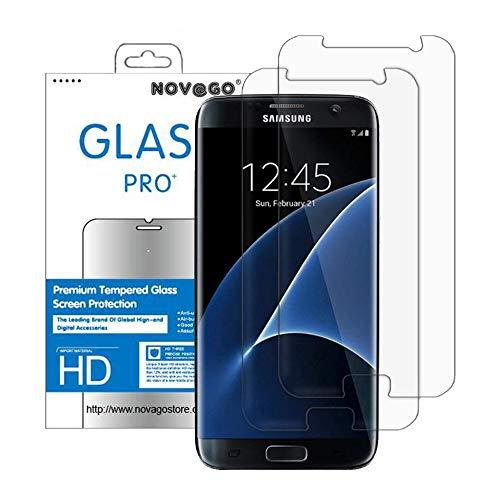 NOVAGO Compatible avec Samsung Galaxy S7 Pack de 2 Films Protection écran en Verre Trempé Transparent, Modèle Plus Petit Que l'écran