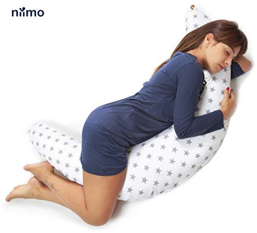 Apoyo para el Vientre Almohada de cu/ña para Embarazo Pierna Tama/ño Libre Alivio del estr/és Rodillas Blanco Cadera de algod/ón de Rebote para Maternidad