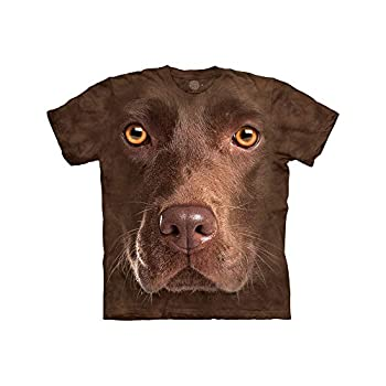 The Mountain girls Chocolate Lab Face T Shirt Brown Small US