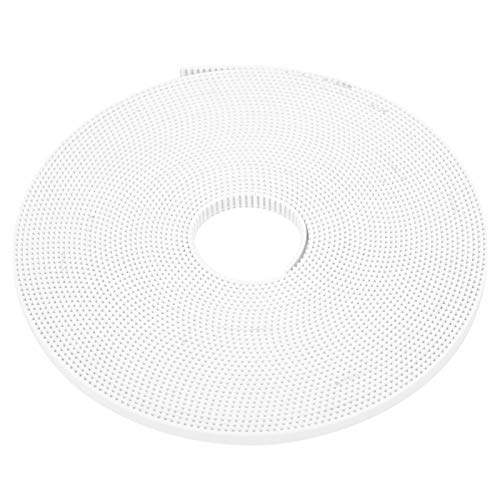 6mm Width 5 Meter Length, White GT2 Open Synchronous Belt, Synchronous Closed Loop, Industrial Accessories(10M)