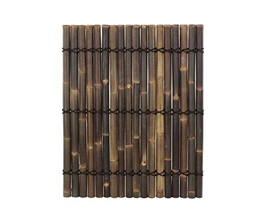 Bambuszaun Apas2 schwarz- braun, ganze Bambusrohre, 150 x 120cm von Bambus-Discount