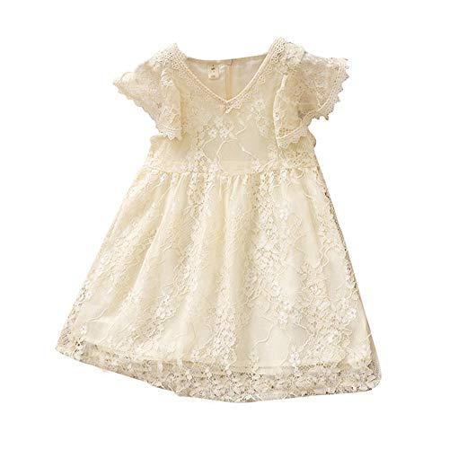 Tonsee Baby Mädchen Prinzessin Kleid Blumenmädchenkleid Taufkleid Festlich Kleid Hochzeit Partykleid Festzug Babybekleidung Blumenspitze Sommer Kleidung