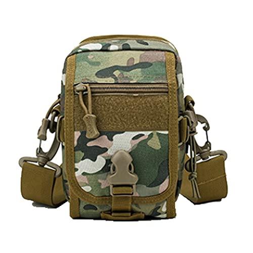 ZWW Mini Bolsa de Hombro Ligero, Deportes al Aire Libre Mochila táctica para el Trabajo Escolar Camping Senderismo Viajar al montañismo (Color : Three-Color Camouflage)
