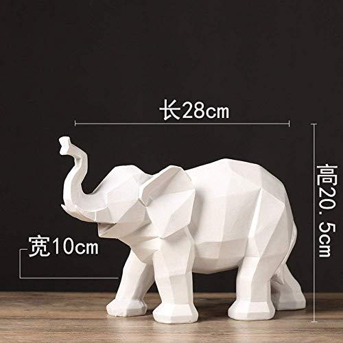 HongLianRiven Crafts Animal muur sculptuur, Scandinavische abstracte origami geometrie een standbeeld decoratie IKEA wijnkast boekenkast modelleren rek zachte servies Animal muur sculptuur 3-25