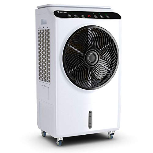 Toolsempire 3 IN 1 Portable Air Conditioner Fan Evaporative Air Cooler and Humidifier 26L Water Tank Capacity 3 Wind Speeds 3 Modes 12H Timer Setting LED Display Remote Control Industrial Fan 36 inch