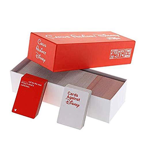 Cards Against Humanity Disney Edition - Incohearent Board Games Adult - Expansion Crazy Party Card Game Toy - Regalos para Amigos Hombres Mujeres Juegos de Fiesta,Rojo