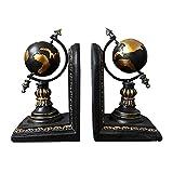 GEZICHTA 2PCS Rustic Globe Bookends Vintage...