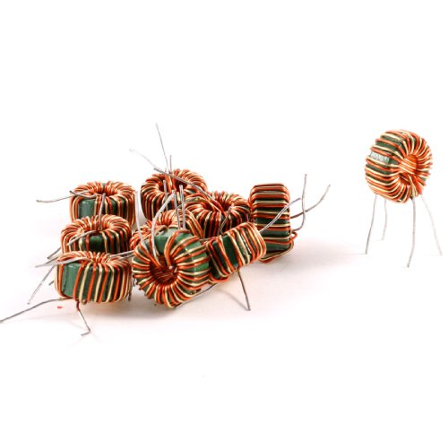 uxcell 10 Pcs Toroid Core Common Mode Inductor Wire Wind 2MH 40mOhm 2A Coil