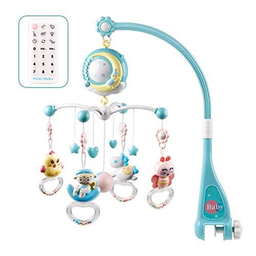 RedKids Baby Mobile für Kinderbett Krippe mit Licht und Musik,Projektor und Fernbedienung,Crib Mobile mit Nachtlicht und Projektor (Blau)