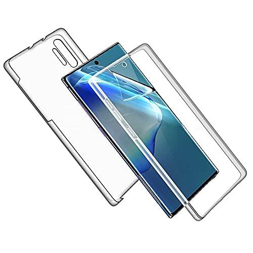 Le Petit Français® - Carcasa para Samsung Galaxy Note 10 Pro transparente, protección antigolpes, silicona delantera trasera, completa, híbrida, delgada, completa completa DIX Pro, transparente