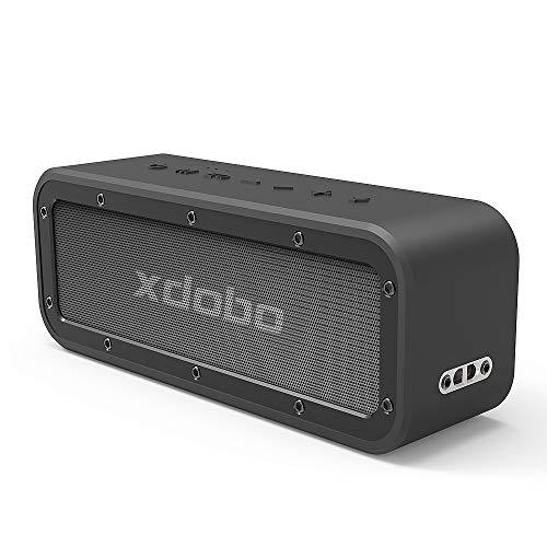 xdobo 40W Portable Bluetooth Lautsprecher 5.0 System mit 15 Stunden Spielzeit TWS Dual Driver Wireless Stereo Paarung IPX 7 Waterproof Staubdicht HD Loud Sound und Deep Bass für Home Outdoor