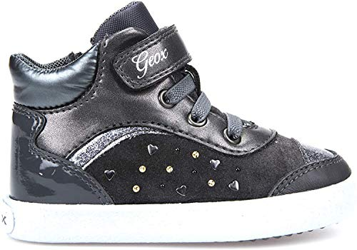 Geox Baby-Mädchen B Kilwi Girl A Sneaker, Grau (Dk Grey), 24 EU