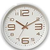 Breve Reloj de Pared Grande de Diseño Moderno Silencioso Creativo Relojes,Inicio Cocina Sala de Estar Decoración Relojes de Pared Silenciosos con Pilas