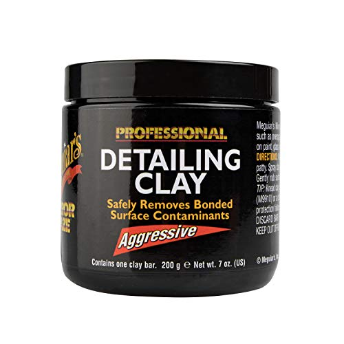 Meguiar's Mirror Glaze Detailing Clay, Aggressive – Remove Defects & Restore a Glassy Finish – C2100
