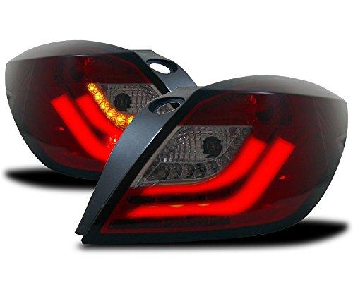 LTI ® Light tube Inside LED achterlichten Opel Astra H GTC rood zwart 3 deurs