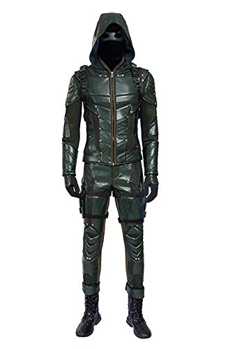 Hot TV Series Men's Archer Green Costume with Accessories Men's Halloween Costume (US Men-M, Green)