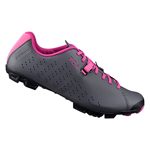 SHIMANO SH-XC5 Mountain Bike Shoe - Women\'s Grey/Magenta; 41