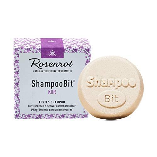 Rosenrot Naturkosmetik - ShampooBit® - festes Shampoo Kur - 55g - Für trockenes & schwer kämmbares Haar. Pflegt intensiv ohne zu beschweren.