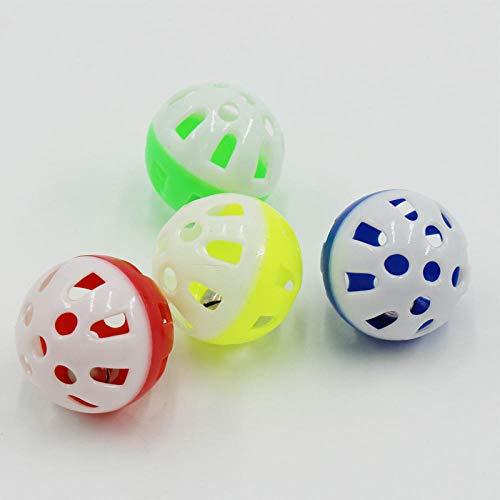 JFHGNJ plastic huisdier spelen bal katten bal met bel ring spelen kauwen rammelaar Scratch praktische training speelgoed