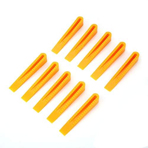 Sistema de nivelación de azulejos suave, acabado efectivamente fácil de quitar, colocando los separadores de nivelador de baldosas de plástico para herramientas de azulejos (amarillo)