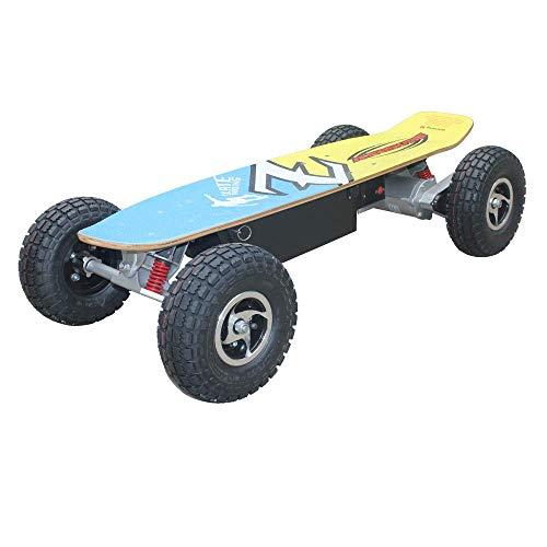 WXDP Cruiser Pro Skateboard,Elektroroller für Erwachsene Offroad 10 '' Gummi-Schlauchreifen Hochgeschwindigkeits-Skateboard Drahtlose ferngesteuerte Roller 44,5 '' * 20,5 '' * 10