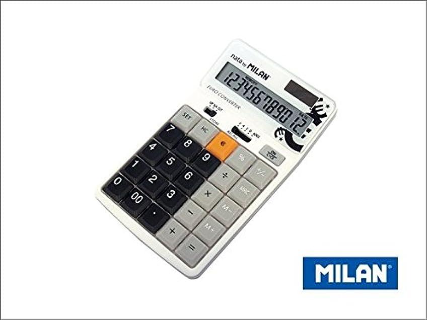該当する乗算窓を洗うMILAN 12桁ユーロ換算電卓 1504129K ブラック