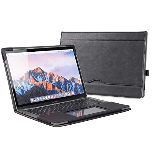 TYTX MacBook Air Leather Case 13.3 Inch 2010-2017 (A1466 A1369) Laptop Sleeve Protective Folio Book Cover (Old MacBook air 13.3', Black)