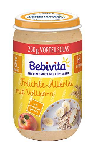 Bebivita Frucht und Getreide Früchte-Allerlei mit Vollkorn, 6er Pack (6 x 250 g)