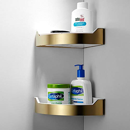 DSD Shampoo Stand Brushed Gold 2 Layer Towel Rack