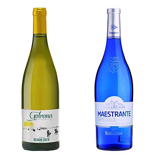Viña Galvana y Maestrante Semidulce - Vino Blanco - 2 botellas de 750 ml