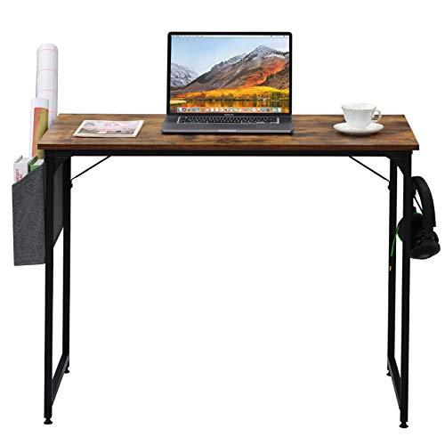 æ— Escritorio de trabajo moderno y simple, escritorio de ordenador con bolsa de almacenamiento para la oficina en casa, resistente y resistente, mesa de estudio, estación de trabajo