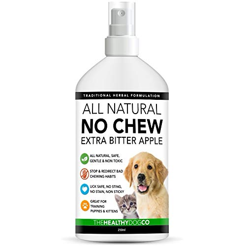 The Healthy Dog Co Spray antimordeduras para Perros con Aroma a Manzana Completamente Natural | para Entrenamiento de Cachorros y Gatitos | Spray para Perros y Gatos para Evitar Masticar 250ml