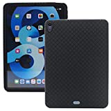 Veamor iPad Air 4 10.9-inch Silicone Back Case Cover, Anti Slip Rubber Protective Skin Soft Bumper for Apple iPad Air 4th Gen 2020, Kids Friendly/Ultra Slim /Shockproof (Black)