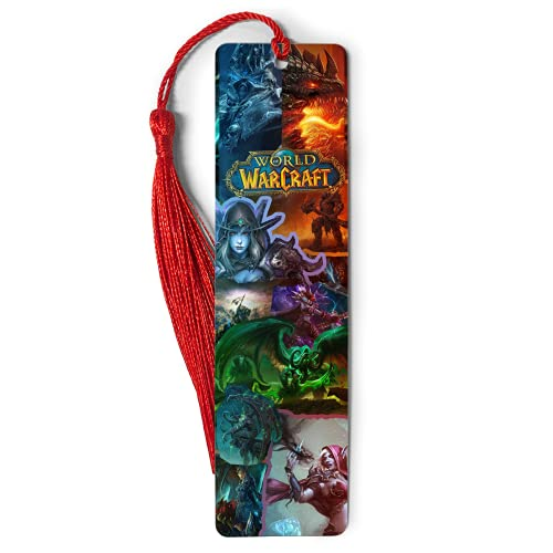 Bookmarks Ruler Metal World Bookography Warcraft Measure Collage Tassels Bookworm for Bookmark Book Reading Gift Bibliophile Christmas Ornament Markers