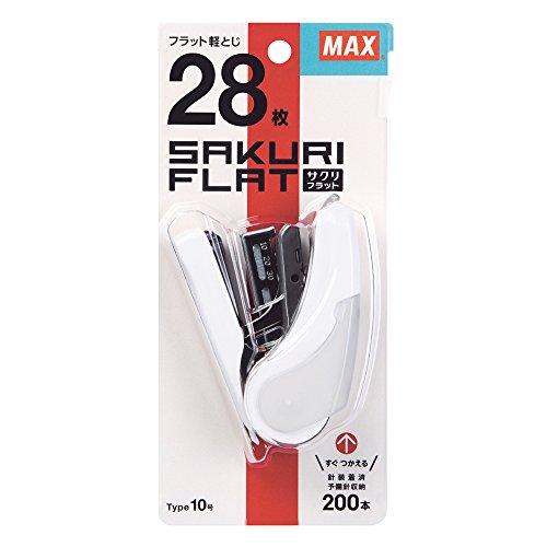 マックス MAX ホチキス ホッチキス サクリフラット 28枚とじ ピンク HD-10FL2K/P