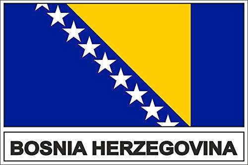 Akachafactory sticker vlaggen vlag vaandel bosnië BIH