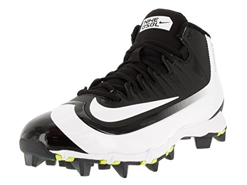 Nike New Mens Huarache 2KFilth Keystone Mid Baseball Cleat Black/White Sz 8 M