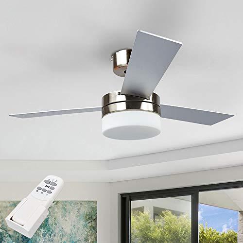 Lindby Deckenventilator mit Beleuchtung und Fernbedienung leise | 2-in-1: Ventilator & Lampe | Durchmesser: 105 cm | 3 Geschwindigkeitsstufen | Sommer- & Winterbetrieb
